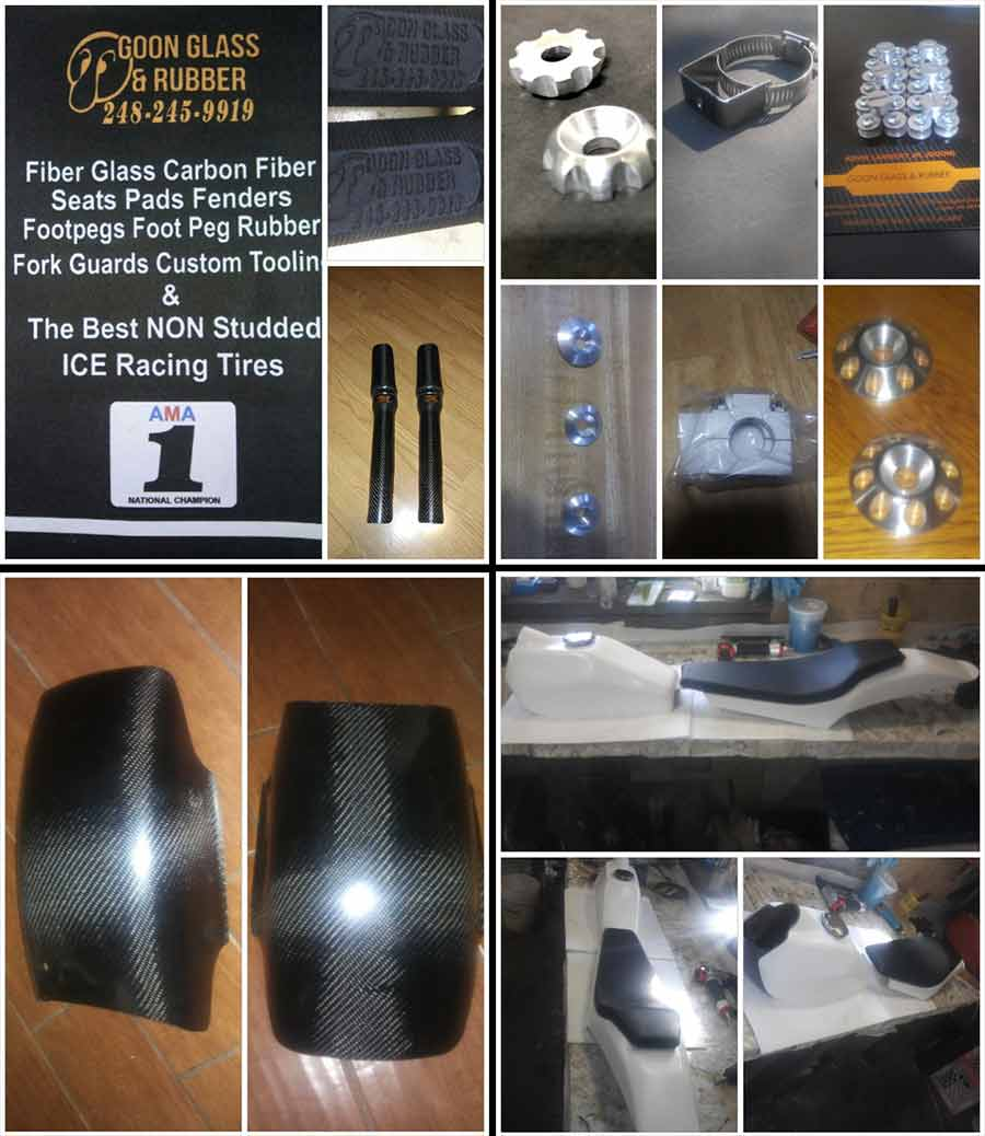Vft Flat Track Products Sr500e Yamaha Motorcycle Front Disc Brake Caliper Diagram And Parts Goon Glass Rubber Is A Lapeer Michigan Based Racing Fabricator Distributor Specializing In Fiberglass Carbon Fiber